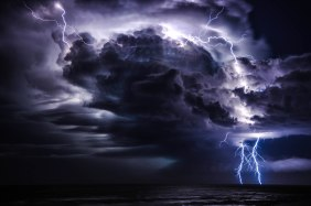 This storm rolled in across Ballina NSW about 7pm last night 9-4-12 ___